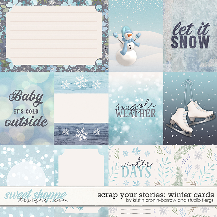 Scrap Your Stories: Winter- CARDS by Studio Flergs & Kristin Cronin-Barrow