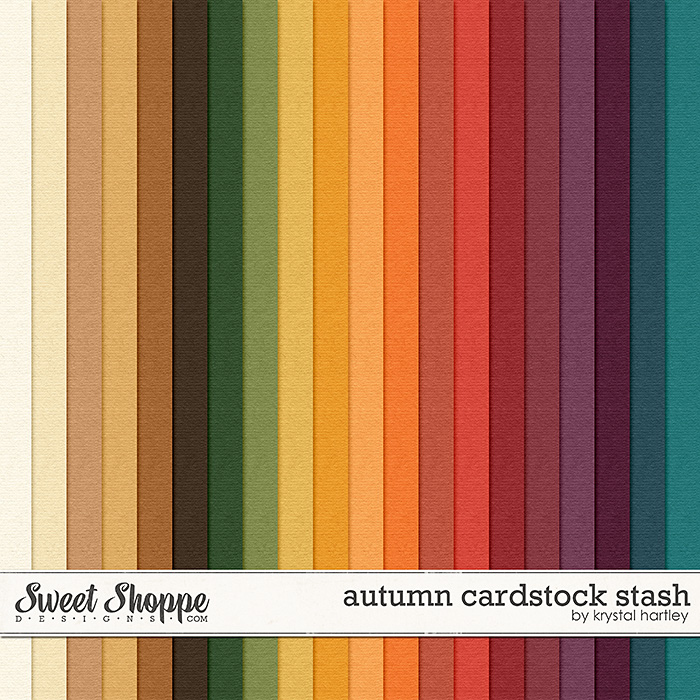 Autumn Cardstock Stash by Krystal Hartley