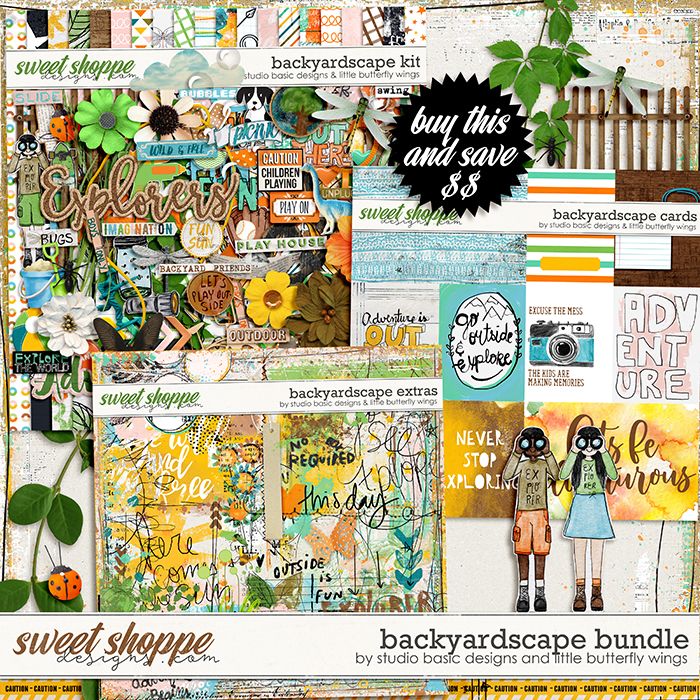 Backyardscape Bundle by Studio Basic and Little Butterfly Wings