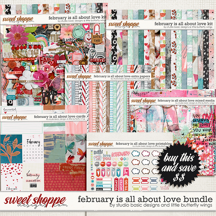February Is All About Love Bundle by Studio Basic and Little Butterfly Wings