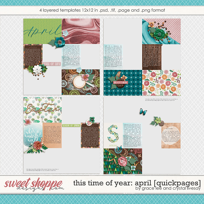 This Time of Year April: Quickpages by Grace Lee and Crystal Livesay