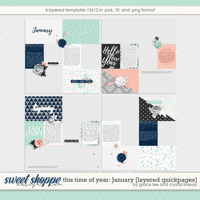 This Time of Year January: Layered Quickpages by Grace Lee and Crystal Livesay