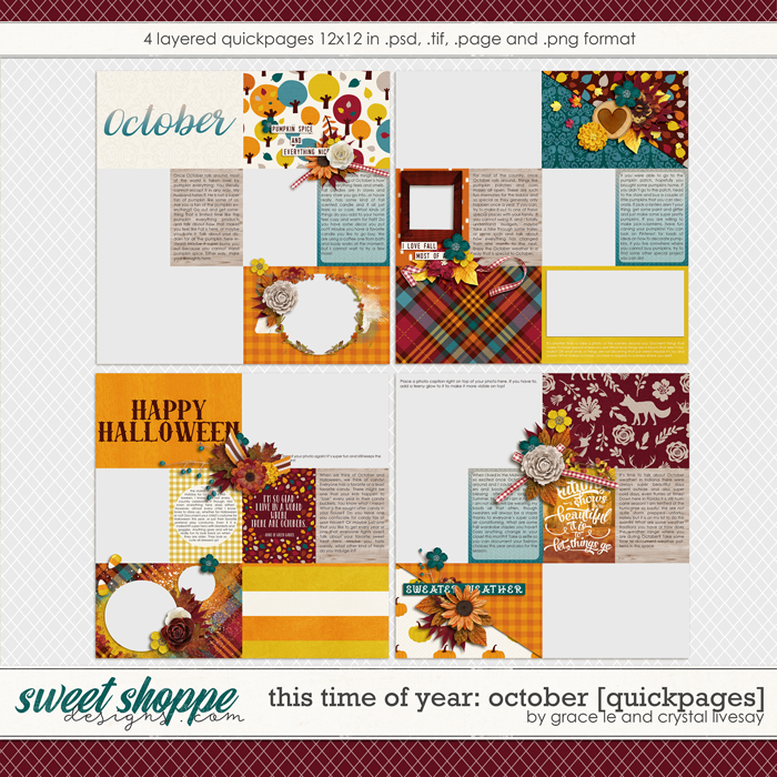 This Time Of Year October: Quickpages by Grace Lee and Crystal Livesay