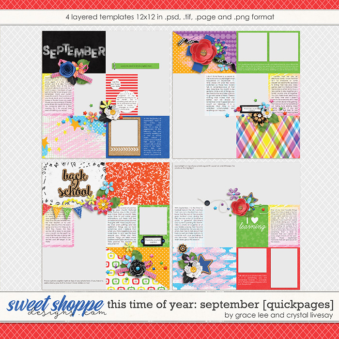 This Time of Year September: Quickpages by Crystal Livesay and Grace Lee