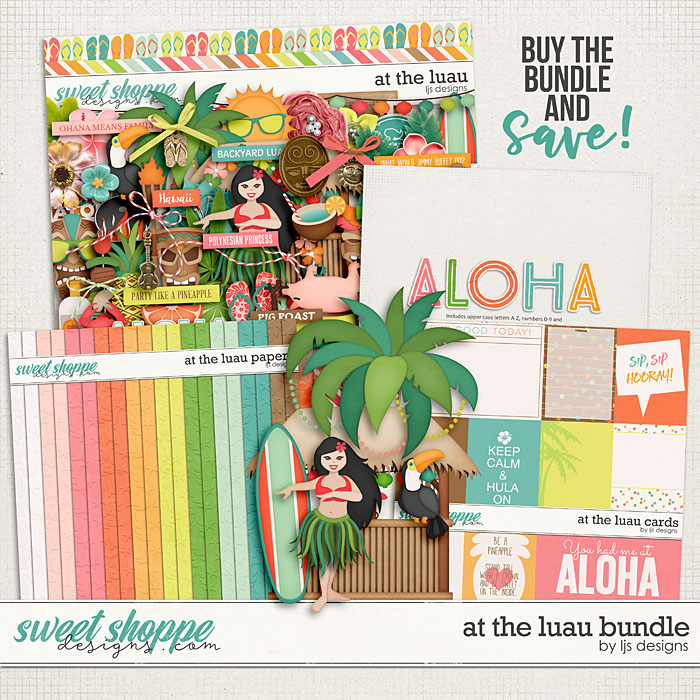 At The Luau Bundle by LJS Designs