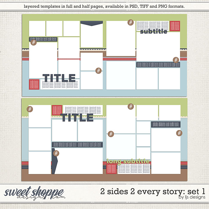 2 Sides 2 Every Story: Set 1 by LJS Designs