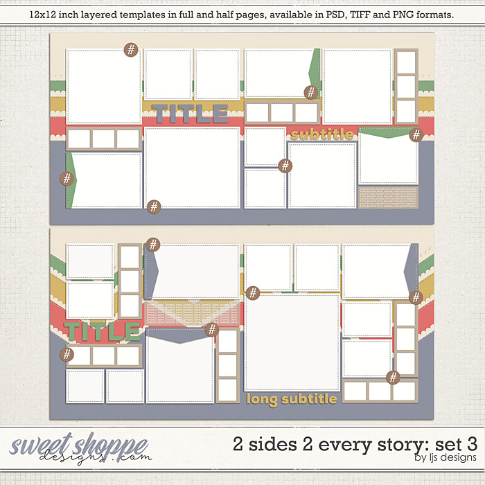2 Sides 2 Every Story: Set 3 by LJS Designs