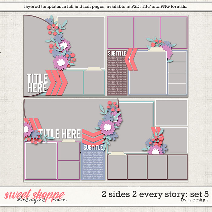 2 Sides 2 Every Story: Set 5 by LJS Designs