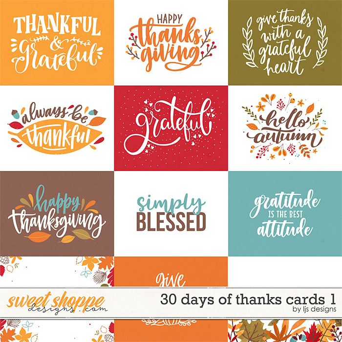 30 Days of Thanks Cards 1 by LJS Designs