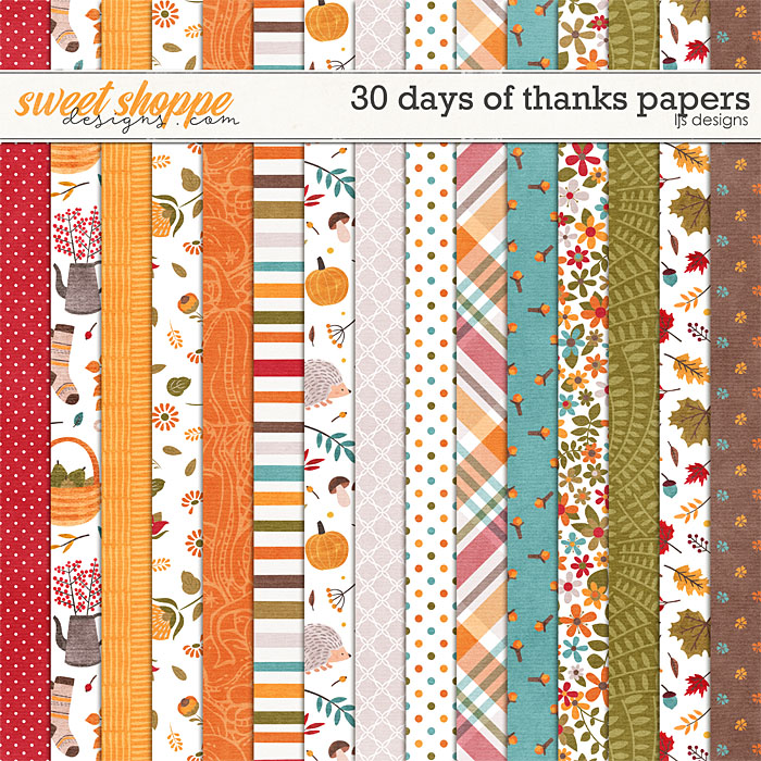 30 Days of Thanks Papers by LJS Designs