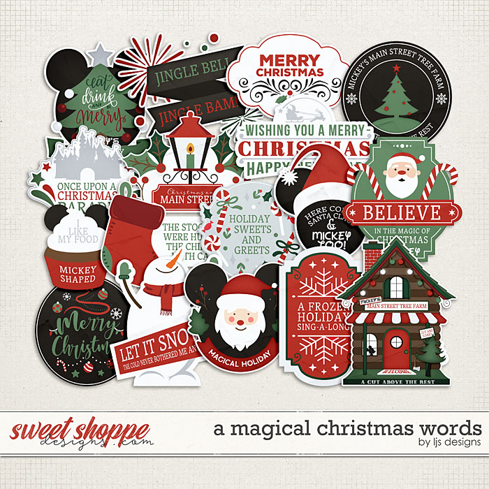 A Magical Christmas Words by LJS Designs