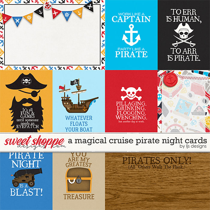 A Magical Cruise Pirate Night Cards by LJS Designs