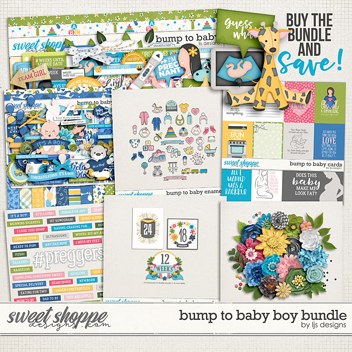 Bump To Baby Boy Bundle by LJS Designs