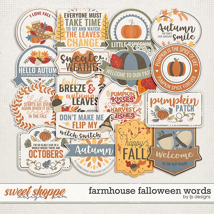 Farmhouse Falloween Words by LJS Designs