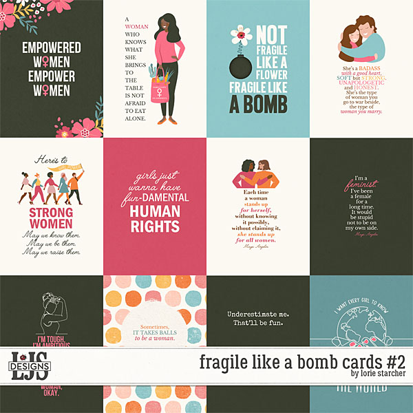 Fragile Like A Bomb Cards 2 by LJS Designs