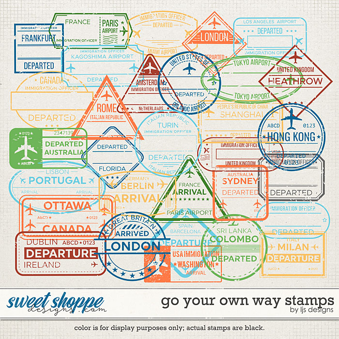 Go Your Own Way Stamps by LJS Designs