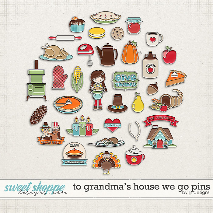 To Grandma's House We Go Pins by LJS Designs