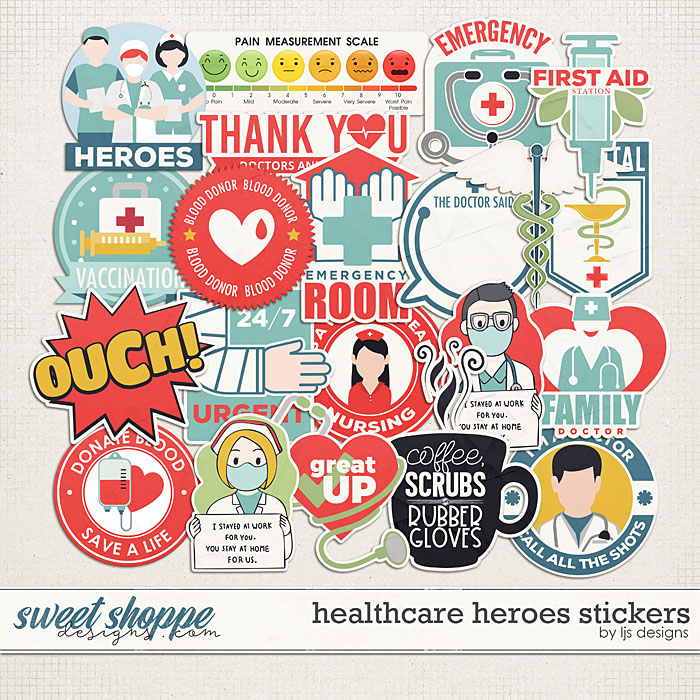 Healthcare Heroes Stickers by LJS Designs