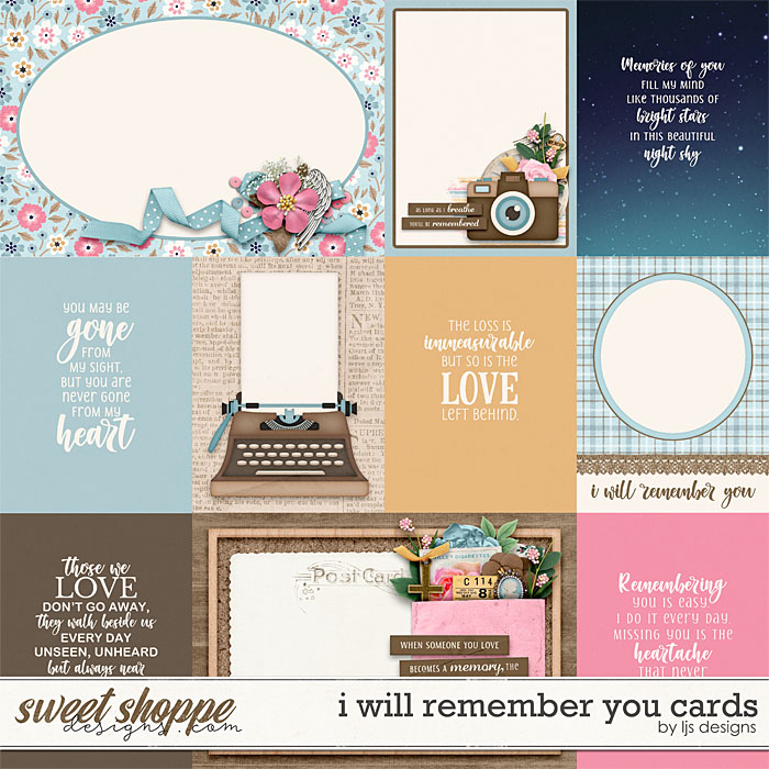I Will Remember You Cards by LJS Designs
