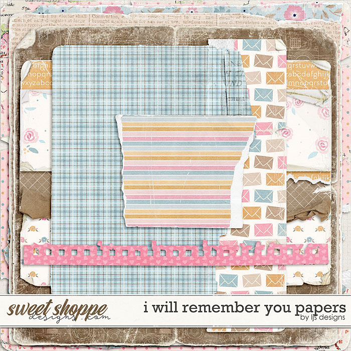 I Will Remember You Papers by LJS Designs