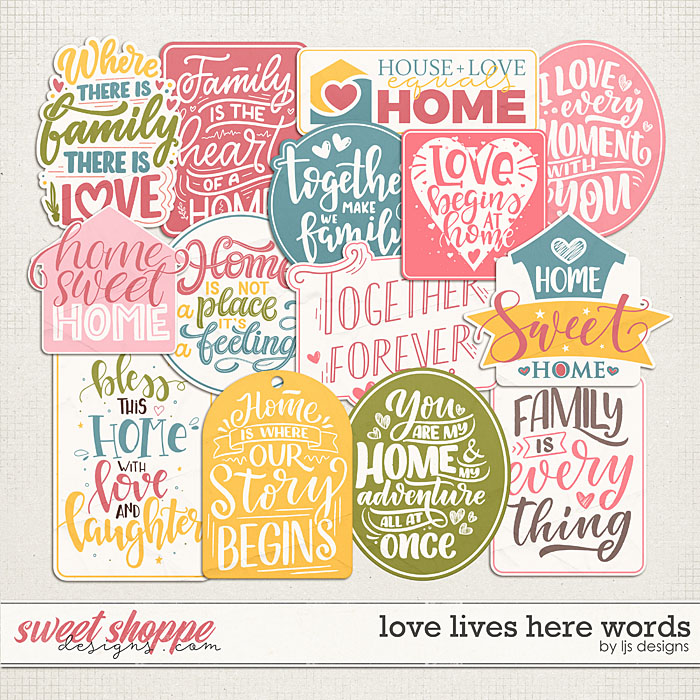 Love Lives Here Words by LJS Designs