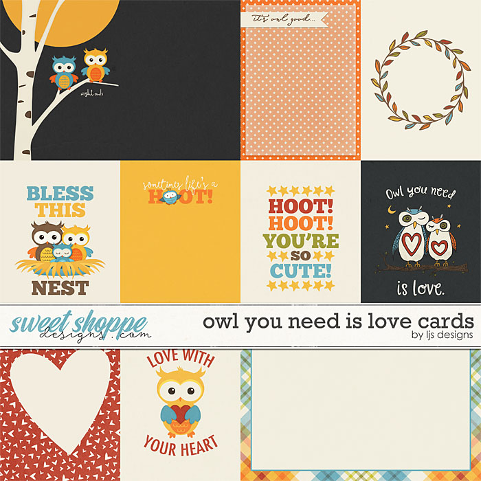 Owl You Need Is Love Cards by LJS Designs