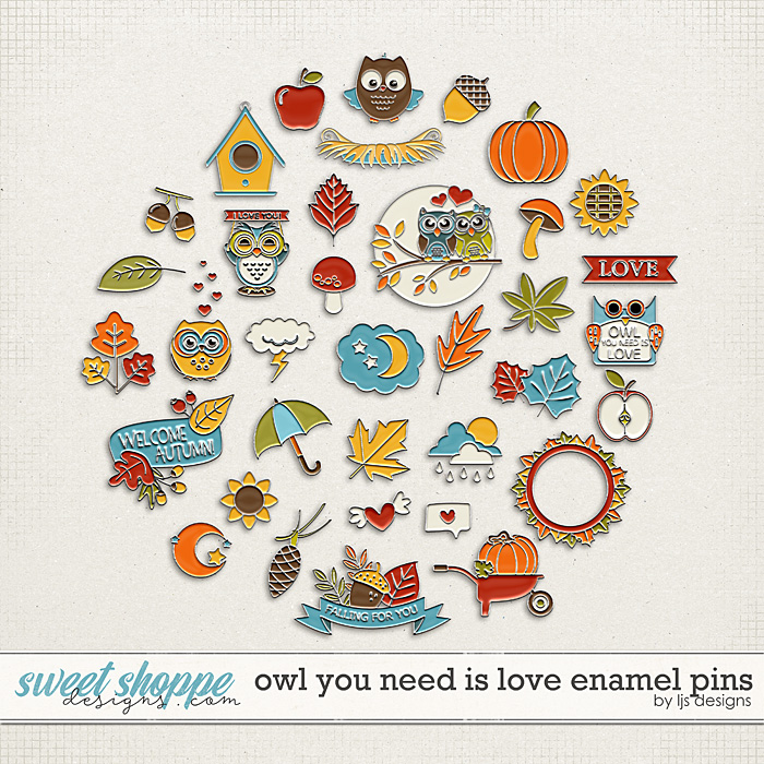 Owl You Need Is Love Pins by LJS Designs