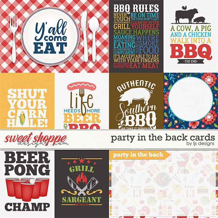 Party In The Back Cards by LJS Designs