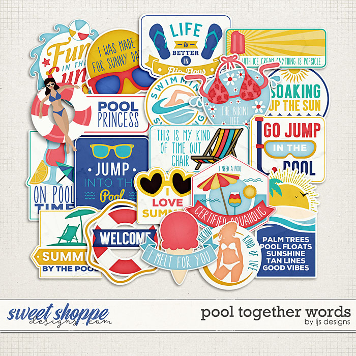 Pool Together Words by LJS Designs