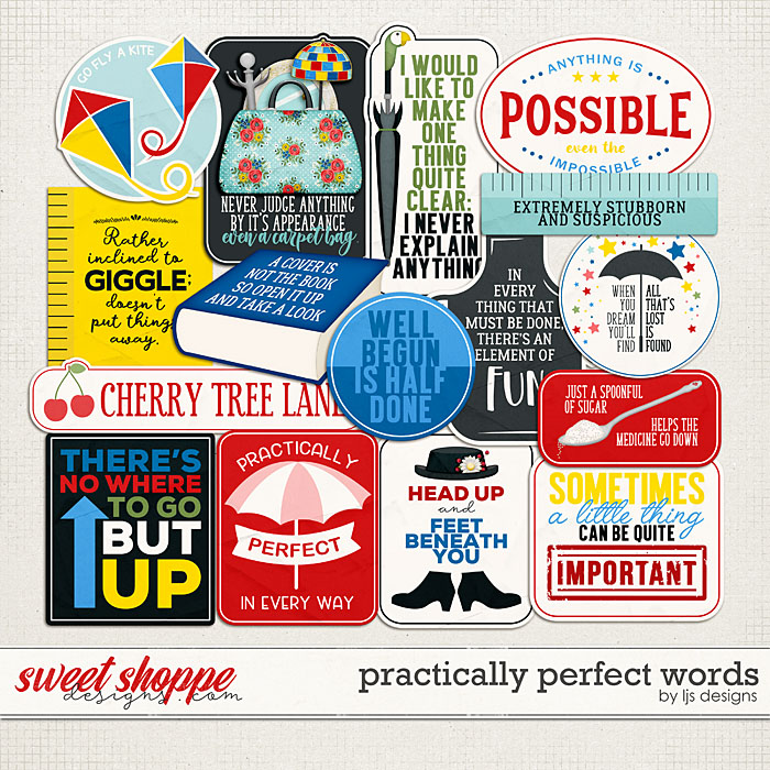Practically Perfect Words by LJS Designs