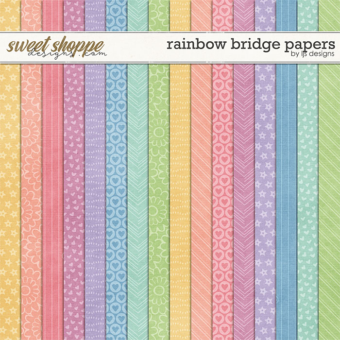 Rainbow Bridge Papers by LJS Designs