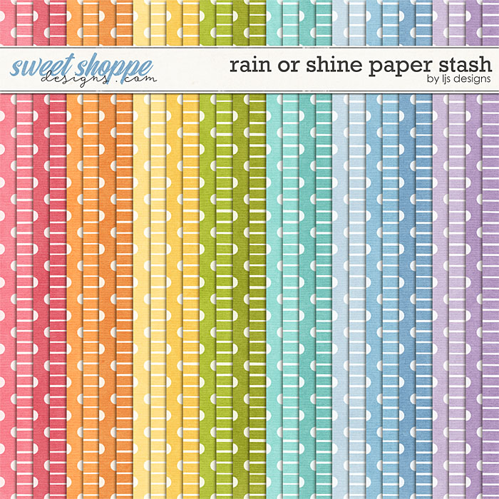 Rain Or Shine Paper Stash by LJS Designs