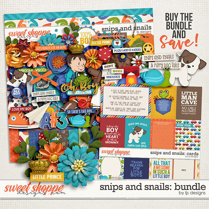Snips and Snails: Bundle by LJS Designs