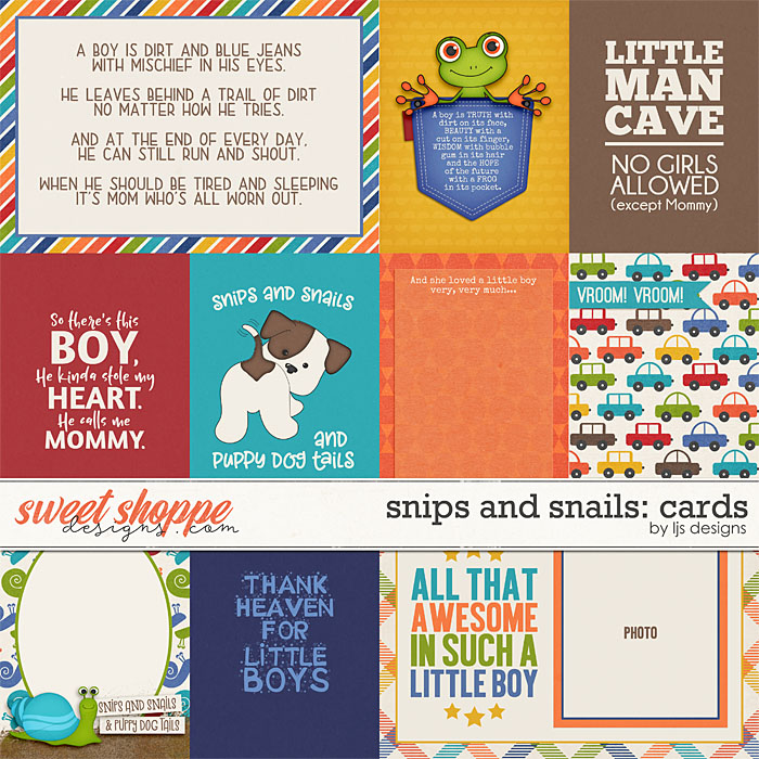 Snips and Snails: Cards by LJS Designs