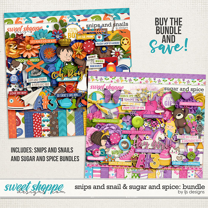 Snips and Snails & Sugar and Spice: Bundle by LJS Designs
