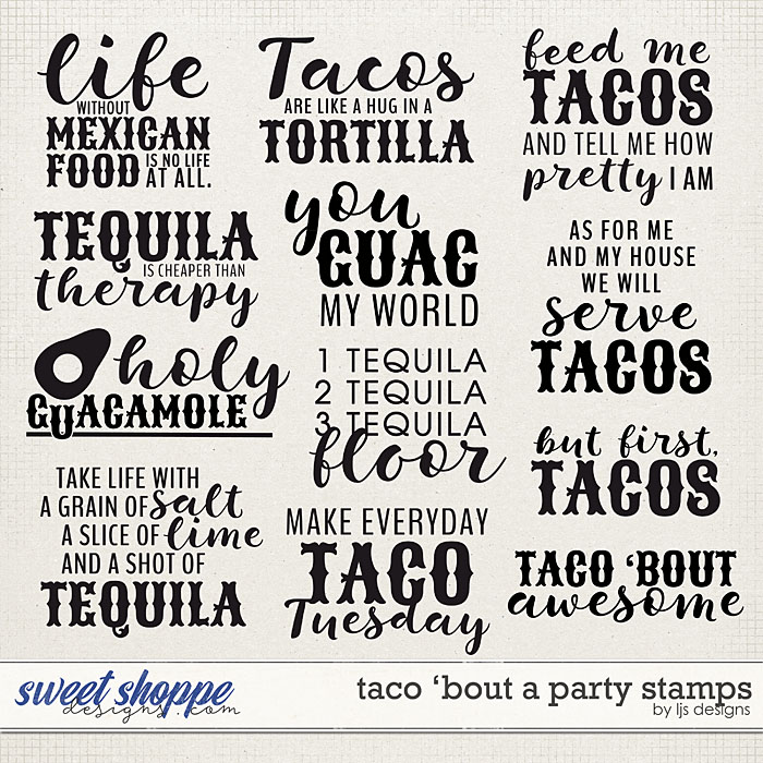 Taco 'Bout A Party Stamps by LJS Designs
