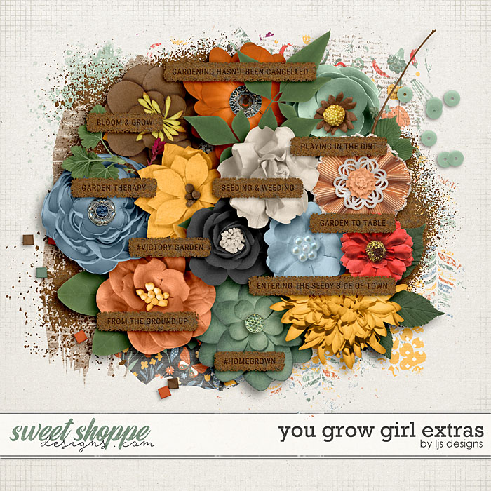 You Grow Girl Extras by LJS Designs