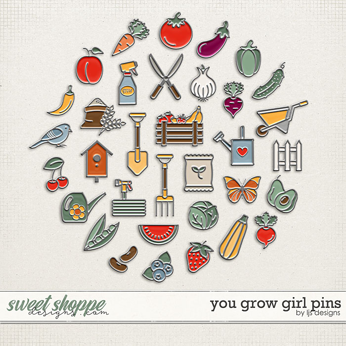 You Grow Girl Pins by LJS Designs