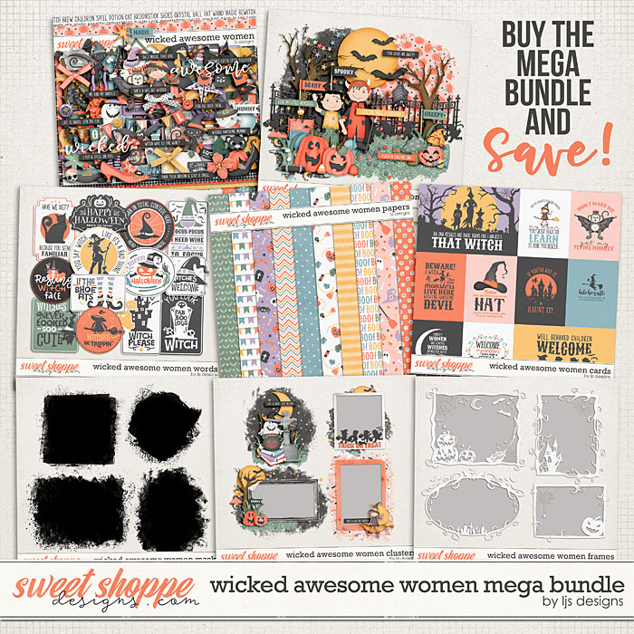 Wicked Awesome Women Mega Bundle by LJS Designs