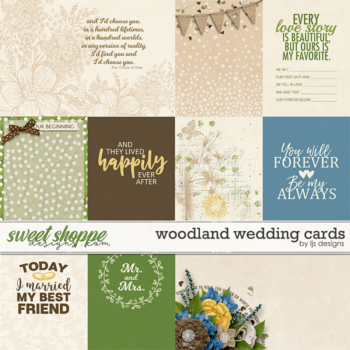 Woodland Wedding Cards by LJS Designs