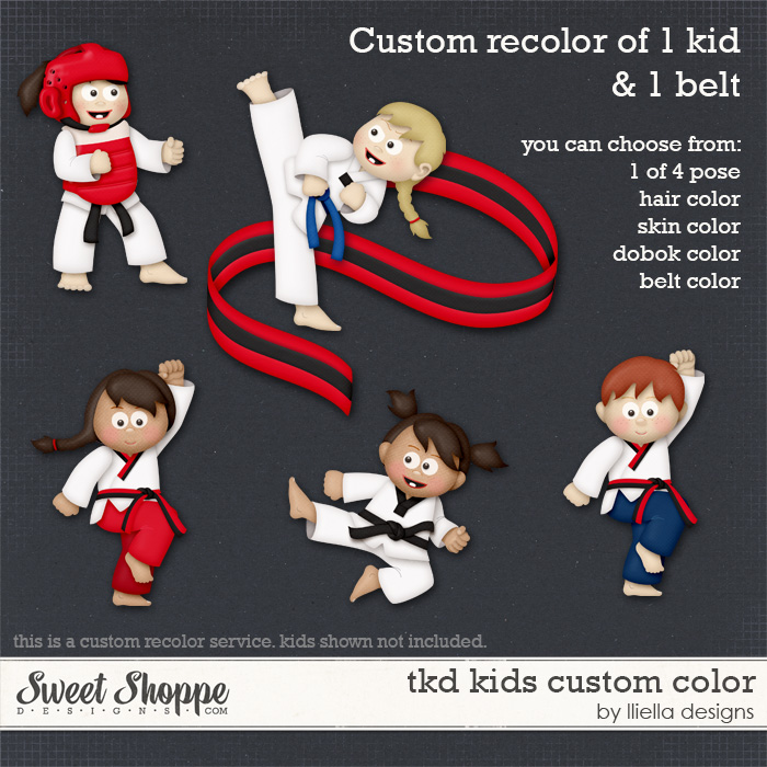 TKD Kids Custom Color by lliella designs