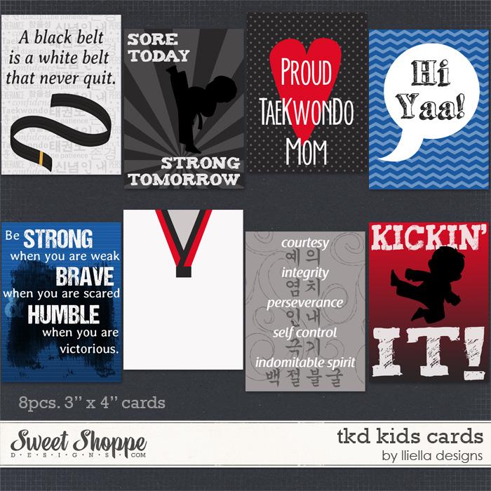 TKD Kids Cards by lliella designs