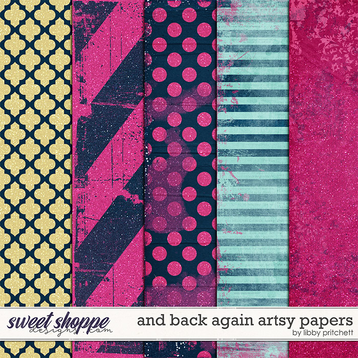 And Back Again Artsy Papers by Libby Pritchett