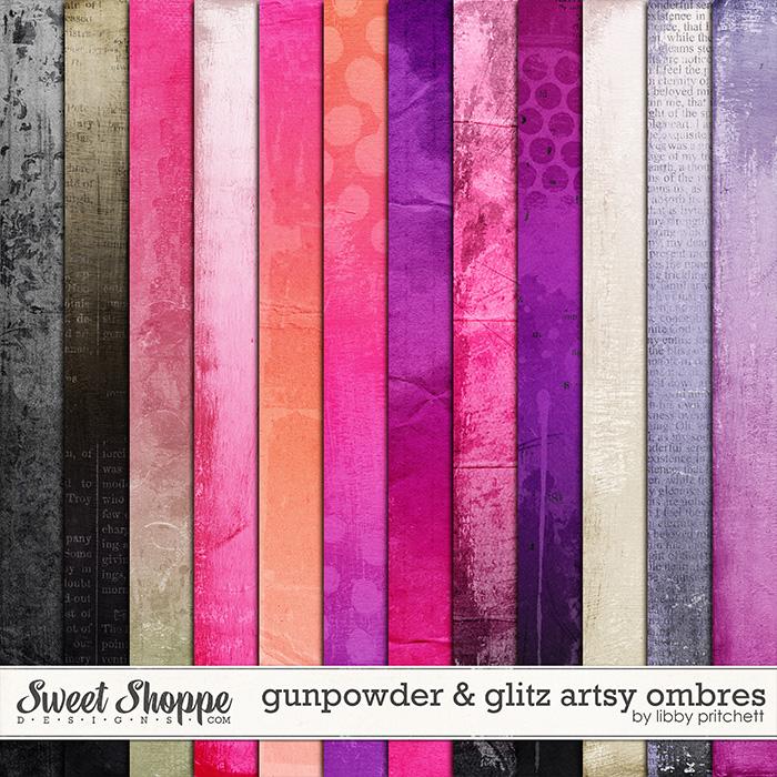 Gunpowder & Glitz Artsy Ombre Papers by Libby Pritchett