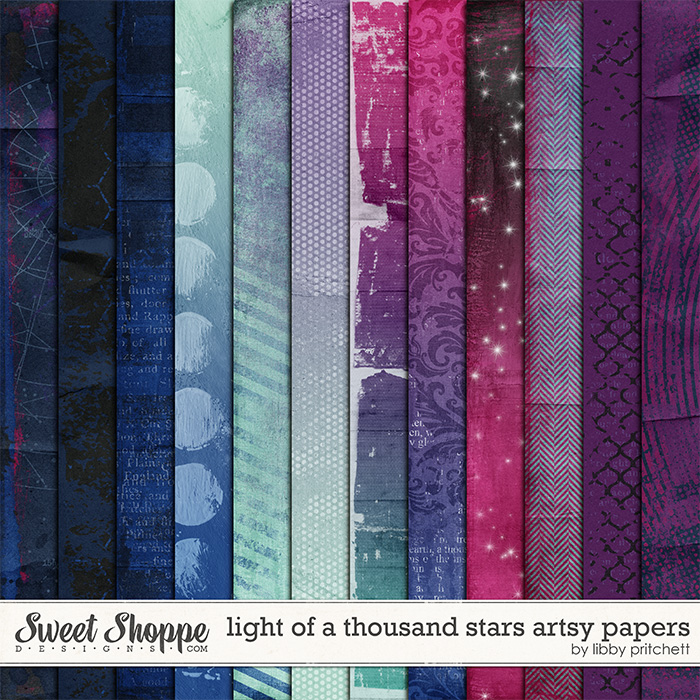 Light Of A Thousand Stars Artsy Papers by Libby Pritchett