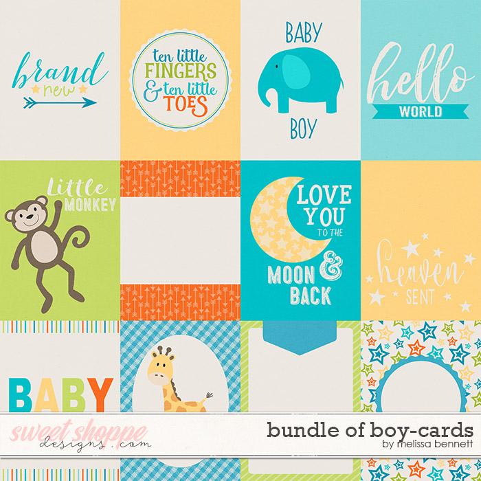 Bundle of Boy Cards by Melissa Bennett