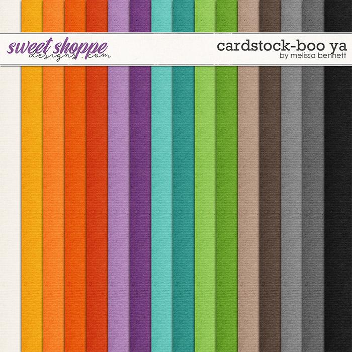 Cardstock-Boo Ya by Melissa Bennett