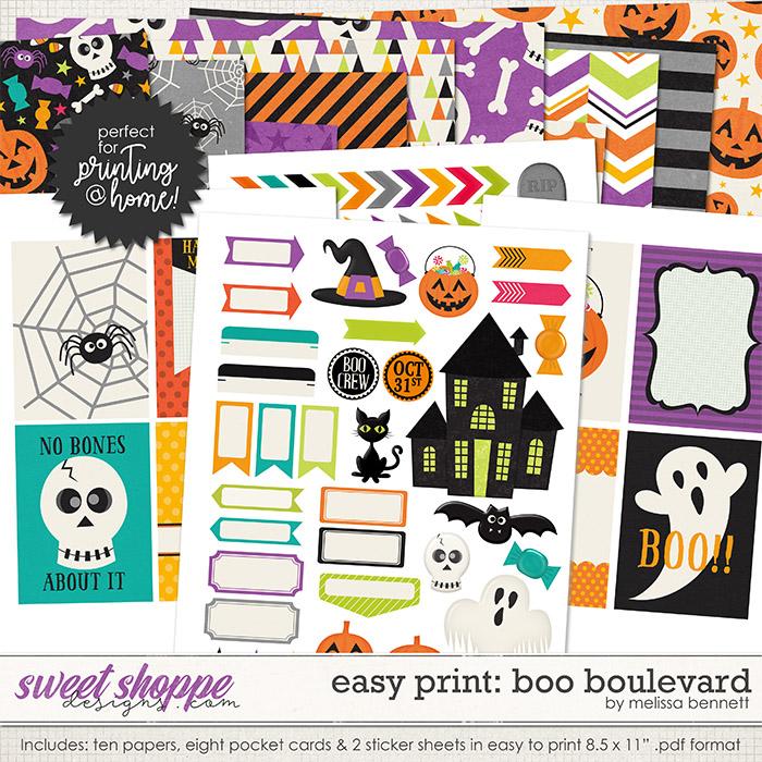 Easy Print: Boo Boulevard by Melissa Bennett