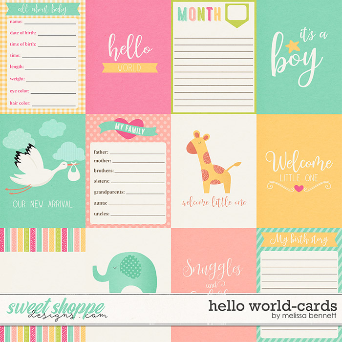 Hello World-Cards by Melissa Bennett
