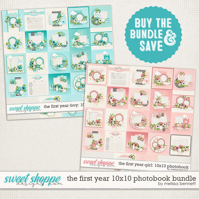 The First Year 10x10 Photobook Bundle by Melissa Bennett